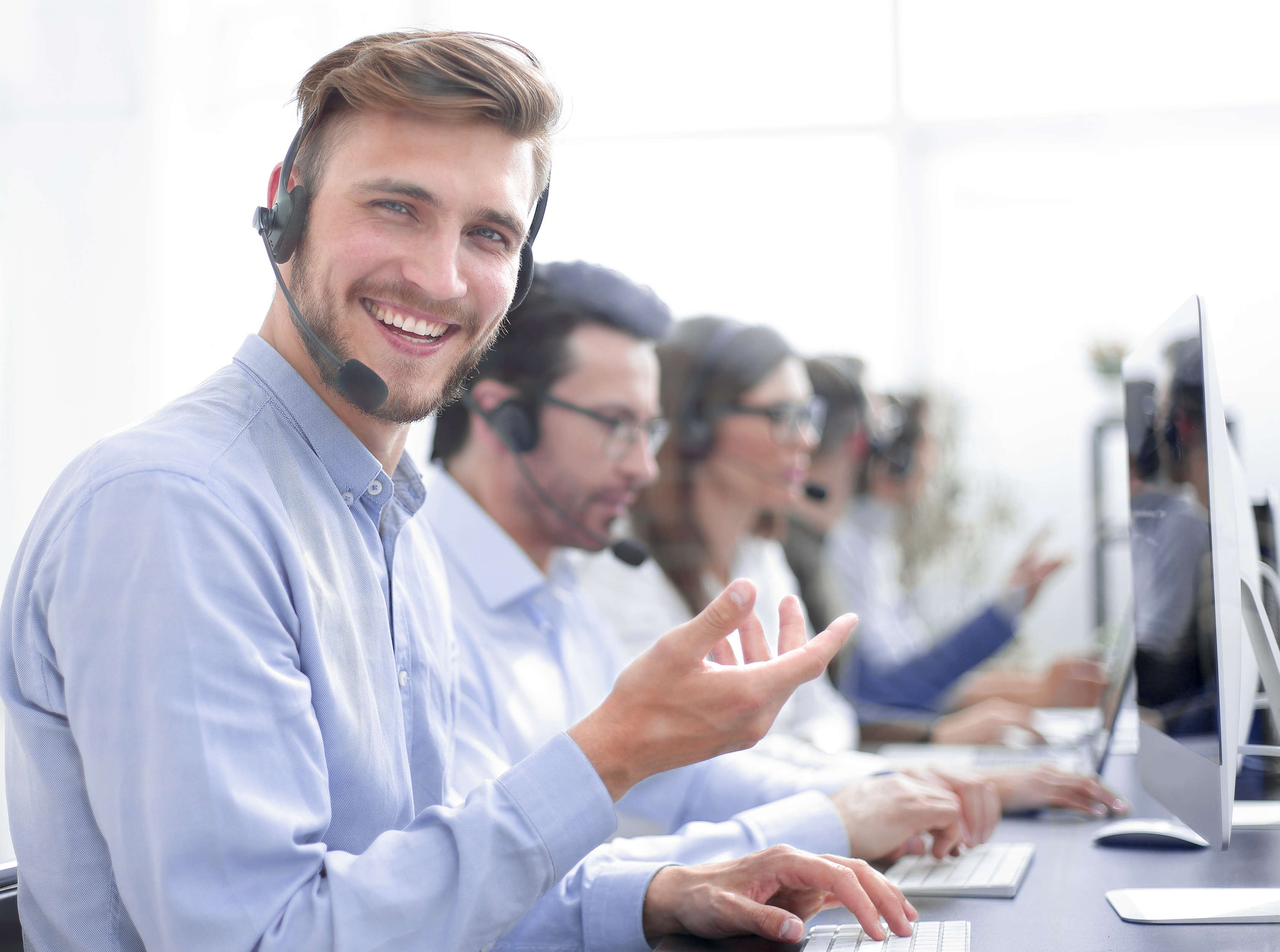Virtual receptionist company